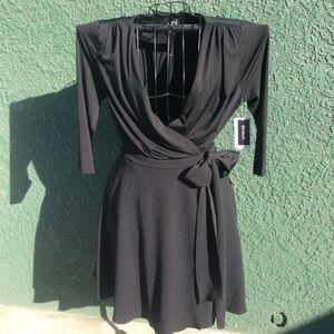 Dressbarn Black Wrap Around Dress